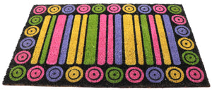 Coir Doormat Large with PVC back Multicolor 30x18 inches