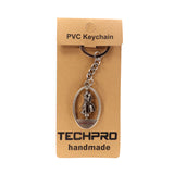 AVI Techpro Doublesided Silver Color Metal Keychain with I Love You Rotating Couples Silver Colour Design