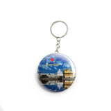 AVI  Blue Amritsar Golden Temple Keychain Regular Size Metal 58mm R7002029
