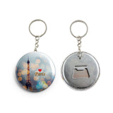 AVI Multicolor Paris Eiffel Tower Travel Souvenir France Keychain Regular Size Metal 58mm R7002053