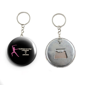 AVI Nothing can stop a woman on a mission attitude Quote Keychain Regular Size Metal 58mm R7002277