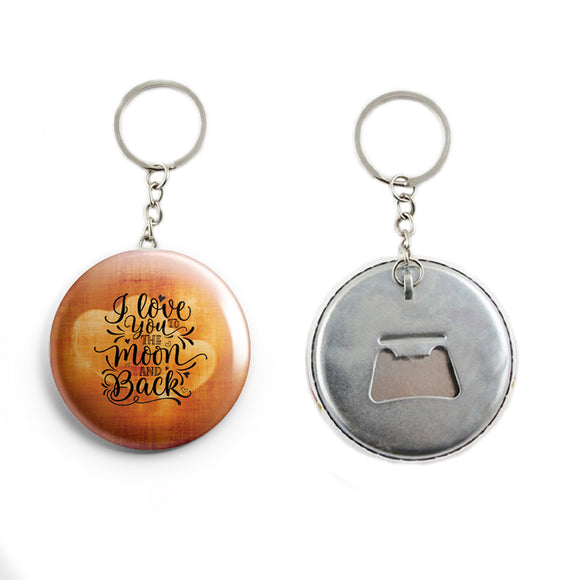 AVI 58mm Orange I love you quote for valentine Keychain Regular Size Metal R7002299