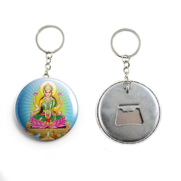 AVI 58mm Regular Size Metal Keychain Blue Goddess Lakshmi Hindu God R7002364