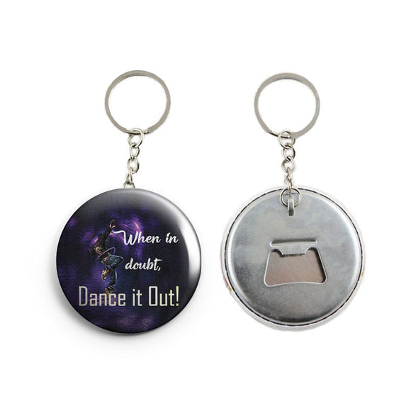 AVI Blue Dance quote for dancer Keychain Regular Size Metal 58mm R7002378