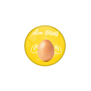 "AVI Pin Badges with Multicolor Food Lovers "" I Am Strong Egg"" Badge Design"