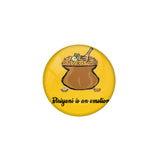 "AVI Pin Badges with Multicolor Food Lovers "" Biriyani is an Emotion"" Badge Design"