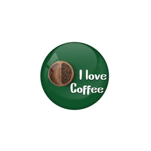 "AVI Pin Badges with Multicolor Food Lovers "" I Love Coffee"" Badge Design"