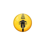 "AVI Pin Badges with Multicolor Bike Riders ""Dug Dug"" Badge Design"