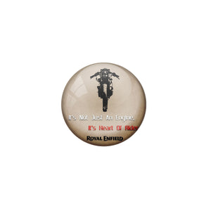 AVI Pin Badges with Multicolor Bike Riders '' It's Not Just an Engine Its Heart of Rider'' Badge Design