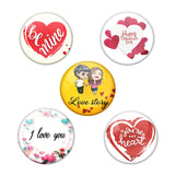 Set of 5 Valentine's day theme Magnetic Badges