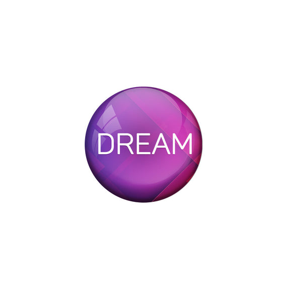 AVI Violet Colour Metal Badge Dream With Glossy Finish Design