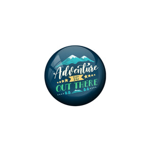 AVI Blue Colour Metal Fridge Magnet Adventure is out there With Glossy Finish Design