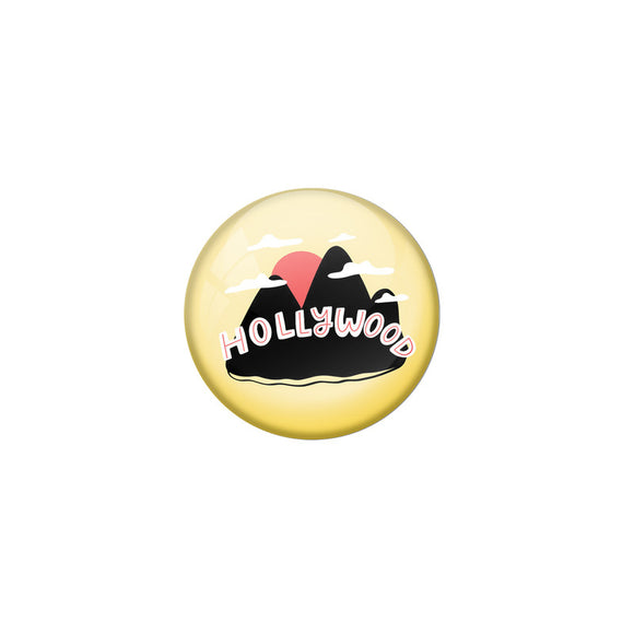 AVI Yellow Colour Metal Fridge Magnet Hollywood With Glossy Finish Design