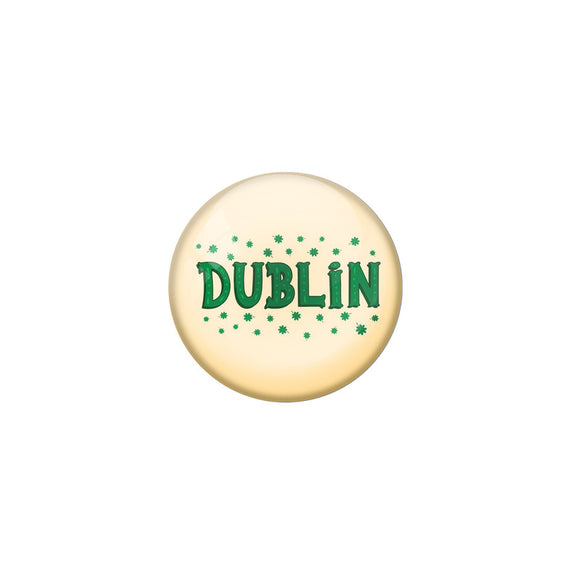 AVI Yellow Colour Metal Fridge Magnet Dublin With Glossy Finish Design