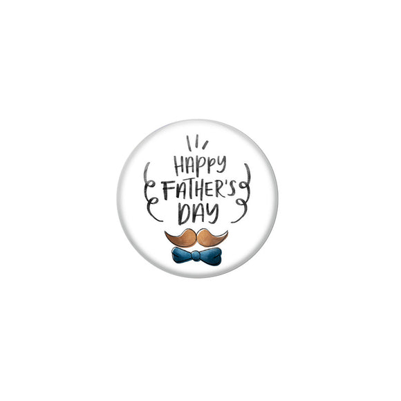 AVI White Colour  Fridge Magnet  Happy Fathers Day Hat FD 9 Glossy Finish  Design