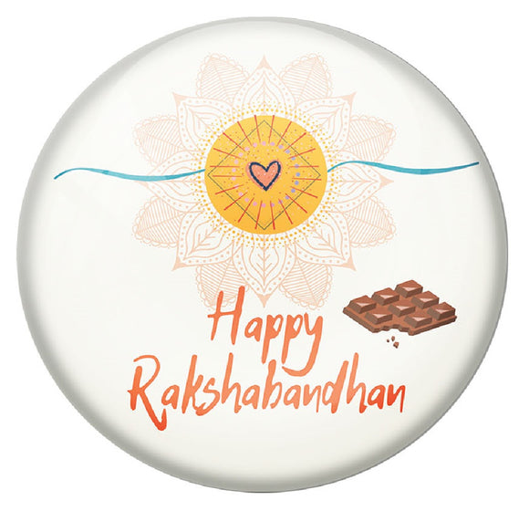 Happy Rakshabandhan 58mm Pin Badge R8002001