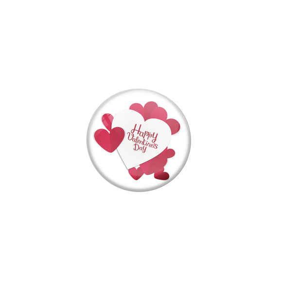 Happy Valentines day Double Magnet Badge