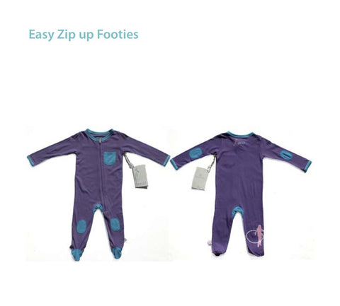i) Footed Zip Up Onesies Click for other colors