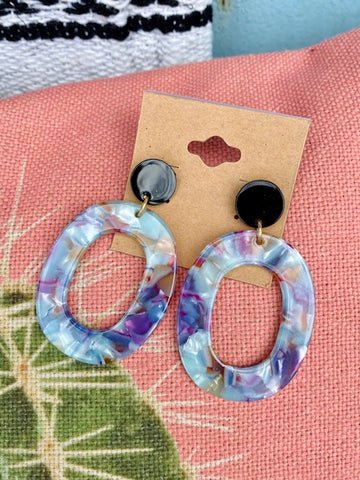Multi Color Acrylic Earrings