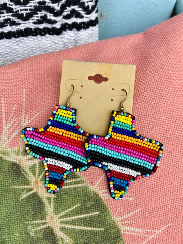 Serape Texas Earrings