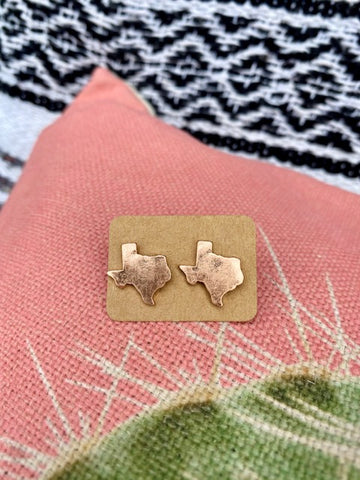 Rose Gold Texas Earrings