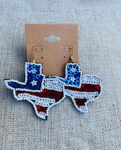 Sequin Texas Earrings