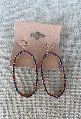 Multicolor Gemstone Dangle Earrings