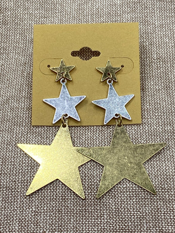 Star Dangle Post Earrings