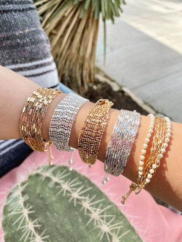 Gold & Silver Adjustable Bracelet Sets