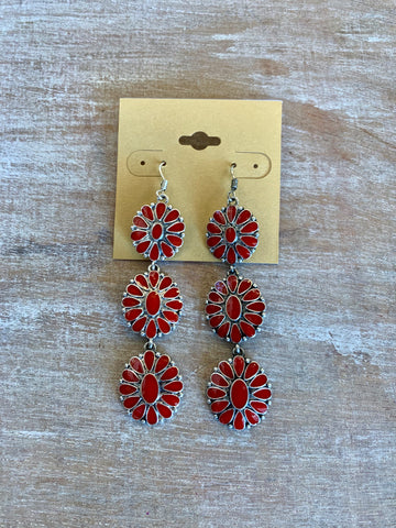 Concho Trio Earrings