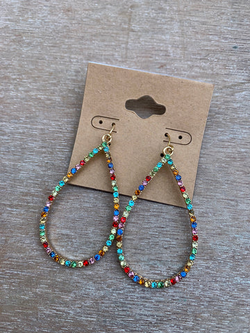 Multicolor Teardrop Dangles