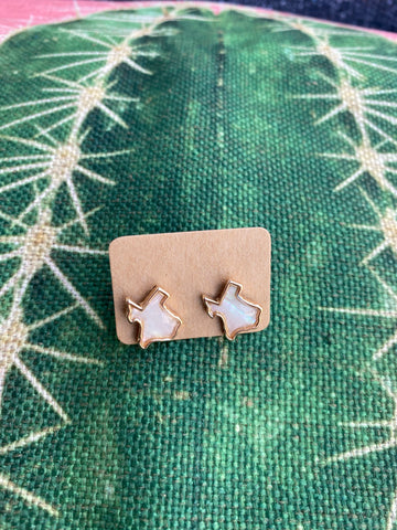 Mother Of Pearl Texas Stud Earrings