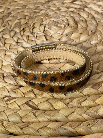 Cheetah Wrap Bracelet