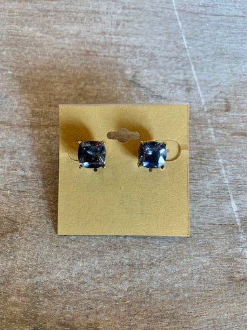 Light Blue Gemstone Studs