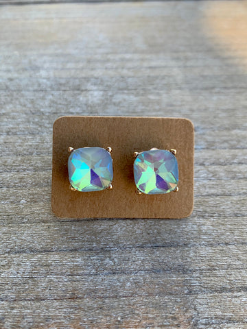 Iridescent Gemstone Studs