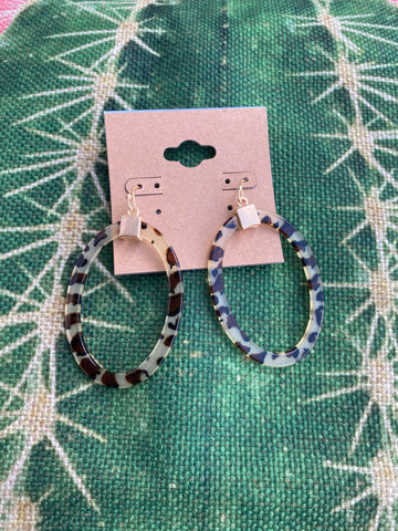 Leopard Acrylic Dangle Earrings
