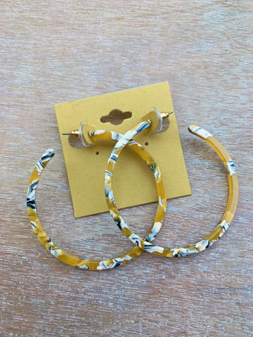 Acrylic Yellow Hoops