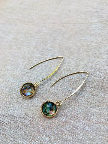 Gold Abalone Dangles