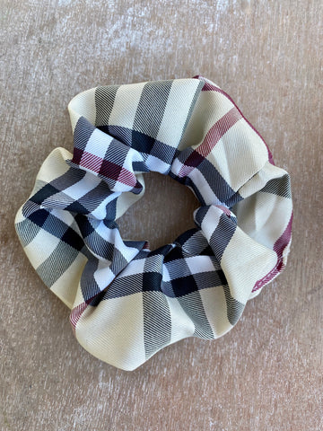 Burberry Inspired Scrunchie