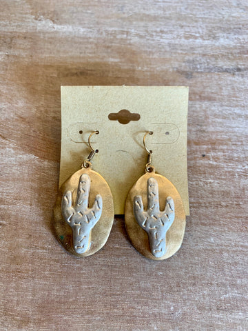 Gold & Silver Cactus Earrings