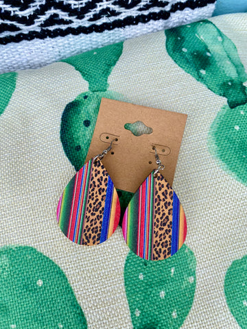 Serape Wooden Earrings