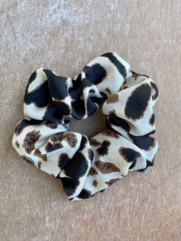 Light Leopard Print Scrunchie