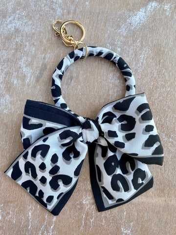 Leopard Bow Key Chain