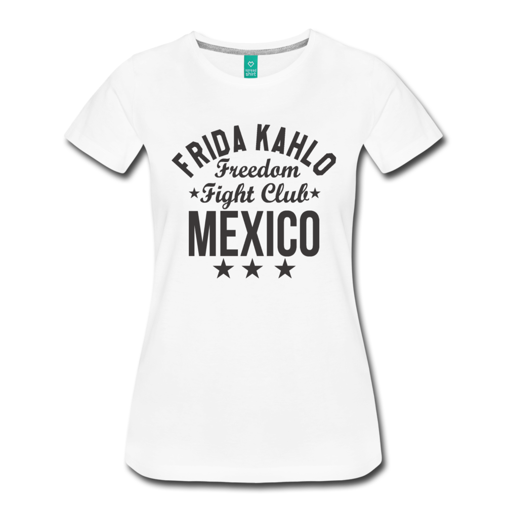 693936f80 ... Load image into Gallery viewer, Frida Kahlo Women's Premium T-Shirt -  white