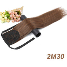 "Load image into Gallery viewer, MISS WIG 12 Colors Available 22"" Long Silky Straight Synthetic Drawstring Ponytail Clip in Extension Style High Temperatur Fiber"