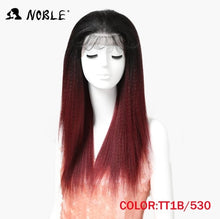 Load image into Gallery viewer, Noble Hair Lace Front Wig 26 1B Color Inch long Lace Front Straight Synthetic Wigs for Women Heat Resistant Free Shipping