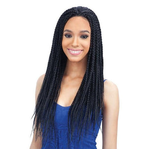72cm Black Box Twist Braids Curly Wig Long Synthetic Hair Wigs For Women