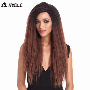Noble Hair Lace Front Wig 26 1B Color Inch long Lace Front Straight Synthetic Wigs for Women Heat Resistant Free Shipping