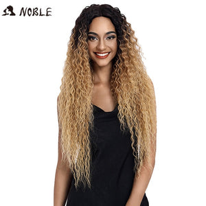 Noble Hair Synthetic Lace Front Wig Long Wavy Hair 30 Inch Blonde Wigs For Black Women Ombre Hair Synthetic Lace Front Wig
