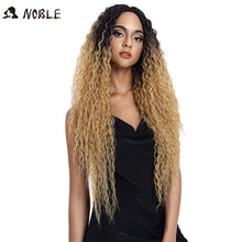 Load image into Gallery viewer, Noble Hair Synthetic Lace Front Wig Long Wavy Hair 30 Inch Blonde Wigs For Black Women Ombre Hair Synthetic Lace Front Wig